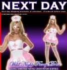 FANCY DRESS COSTUME # FEVER SEXY PIN UP NURSE LG 16-18